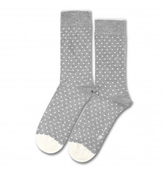Democratique Socks ORIGINALS POLKADOT Light Grey Melange / Broken White
