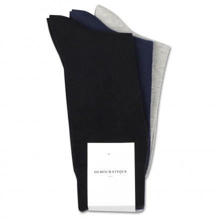 Originals Solid 3-pack No Brainer 1 One of each assorted: Navy, Black, Light Grey Melange