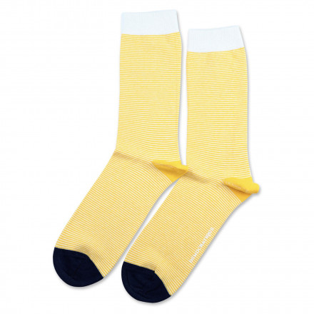c38caa004f Democratique Socks Originals Ultralight Stripes Dominant Yellow-Off  White-Navy