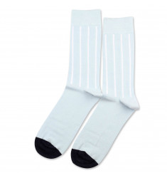 b53bdb1a14 Democratique Socks Originals Latitude Striped Light Blue-Clear White-Navy
