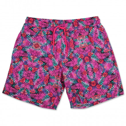 c2909eb388 YKIKI HONOLULU SWIM TRUNKS FLORAL PURPLISH PINK - Vertical Cph