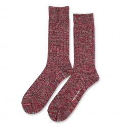 Democratique Socks Relax Fence Knit Supermelange 6-pack Charcoal Melange - Pearl Red - Light Grey Melange