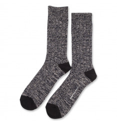 Democratique Socks Relax Fence Knit Supermelange 6-pack Black - Navy - Light Grey Melange