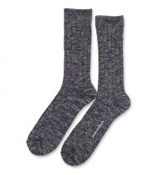 Democratique Socks Relax Heavy Rib Supermelange 6-pack Navy Melange - Light Grey Melange - Charcoal Melange