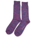 Democratique Socks Relax Chunky Flat Knit Supermelange 6-pack Adams Blue - Purplish Pink - Navy - Warm Grey