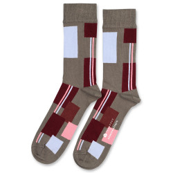 Y E E S P R E E + Democratique Socks Originals Patchwork 6-pack Army-Red Wine-Pale Skin-Burnt Rust-Palm Springs Blue