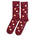 Democratique Socks Originals DotCom 6-pack Red Wine - Casual Sand - Navy - Warm Grey - Off White