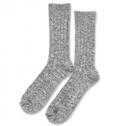 Democratique Socks Relax Heavy Rib Supermelange 6-pack Black - Warm Grey - Soft Grey - Off White