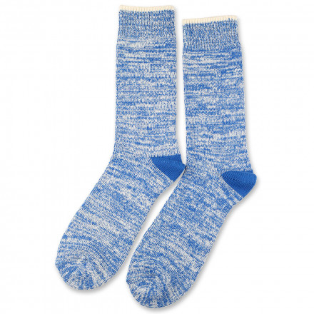 Democratique Socks Relax Twister Knit Supermelange 6-pack Adams Blue - Off White