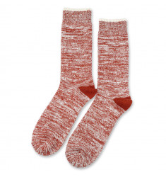Democratique Socks Relax Twister Knit Supermelange 6-pack Burnt Rust - Off White