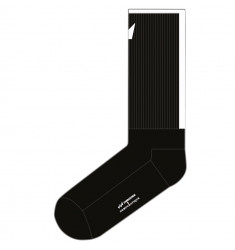 UNRIDDEN x Democratique Socks Athletique LOGO BLOCK Black / Clear White