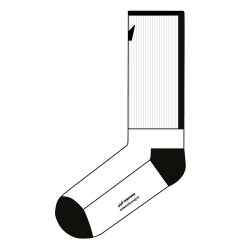 UNRIDDEN x Democratique Socks Athletique LOGO BLOCK Clear White / Black
