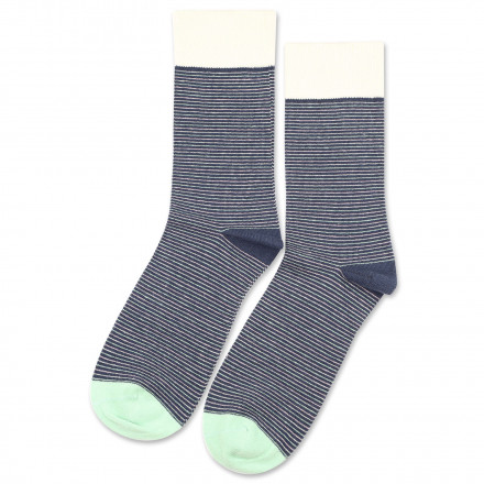 Democratique Socks Originals Ultralight Stripes Shaded Blue / Off White / Pale Green / Pale Pink