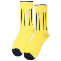 Democratique Socks Originals Latitude Striped Yellow Sun / Off White / Deep Green / Shaded Blue