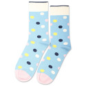Democratique Socks Originals DotCom Palm Springs Blue / Shaded Blue / Off White / Pale Pink / Yellow Sun