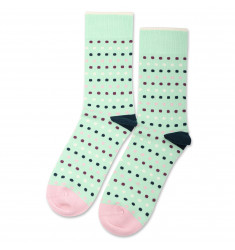 Democratique Socks Originals Polkadot Pale Green / Off White / Pale Pink / Dark Emerald / Heavy Plum