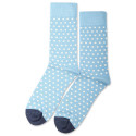 Democratique Socks Originals Polkadot Palm Springs Blue / Shaded Blue / Off White