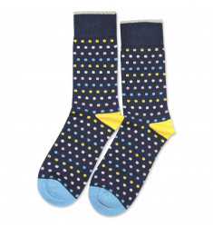 Democratique Socks Originals Polkadot Shaded Blue / Off White / Pale Pink / Palm Springs Blue / Yellow Sun