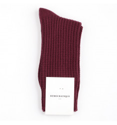 Democratique Socks Relax Waffle Knit Supermelange 6-pack Heavy Plum