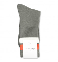 Democratique Socks Athletique Classique Stripes 6-pack Army - Off White - Dusty Orange