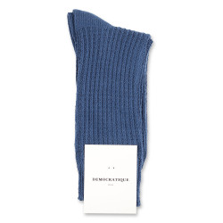 Democratique Socks Relax Waffle Knit Supermelange 6-pack Dark Ocean Blue