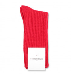 Democratique Socks Relax Waffle Knit Supermelange 6-pack Pearl Red