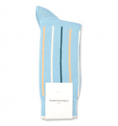 Democratique Socks Originals Latitude Striped 6-pack Palm Springs Blue / Abricos / Benzin / Off White