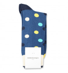 Democratique Socks Originals DotCom 6-pack New Blue / Yellow Sun / Swimmingpool / Navy / Off White