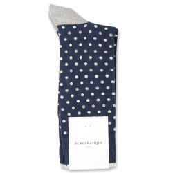 Democratique Socks Originals Polkadot 6-pack Navy / Stone / Off White / Silver