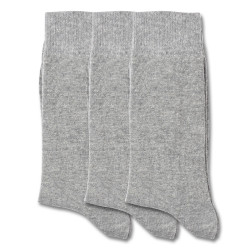 Democratique Socks ORIGINALS SOLID 3-pack Light Grey Melange