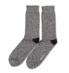 Democratique Socks RELAX TWISTER KNIT Black / Off White