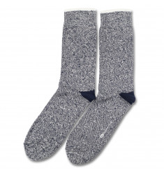 Democratique Socks RELAX TWISTER KNIT Navy / Off White