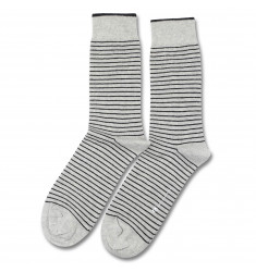 Democratique Socks ORIGINALS MINI STRIPER Light Grey Melange / Black