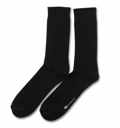 Democratique Socks RELAX BUBBLE LINE KNIT SUPERMELANGE Black