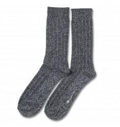 Democratique Socks RELAX BUBBLE LINE KNIT SUPERMELANGE Charcoal Melange / Off White Melange / Denim Melange