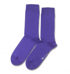 Democratique Socks Originals Solid Deep Purple