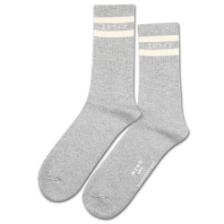 Edwin Jeans x Democratique Socks Athletique THIS IS THE LIFE Light Grey Melange / Off White
