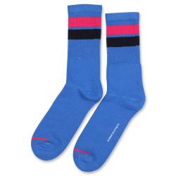 Democratique Socks Athletique Classique Stripes 6-pack Adams Blue - Purplish Pink - Navy