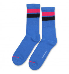 Democratique Socks Athletique Classique Stripes 6-pack Adams Blue - Purplish Pink - Navy