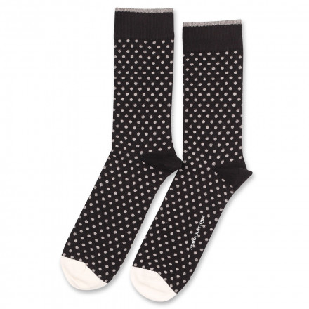 Democratique Socks Originals Polkadot 6-pack Black - Light Grey Melange - Off White