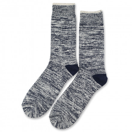 Democratique Socks Relax Twister Knit Supermelange 6-pack Navy - Off White