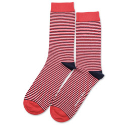 Originals Ultralight Stripes Spring Red/Navy/Clear White 6-pack