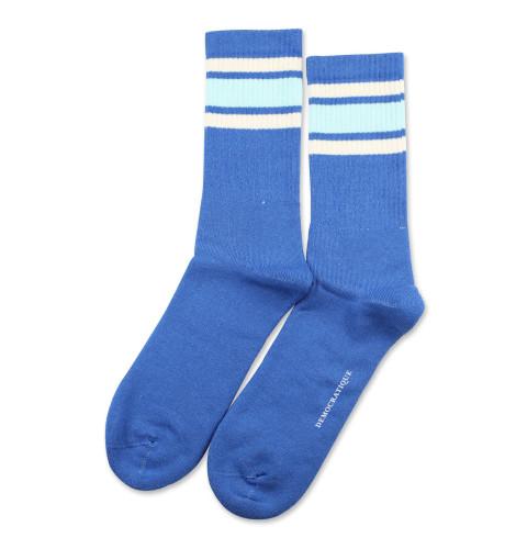 Athletique Classique Stripes Adams Blue/Poolside Green/Off White 6-pack