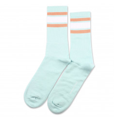 Athletique Classique Stripes Poolside Green/Clear White/Light Salmon 6-pack