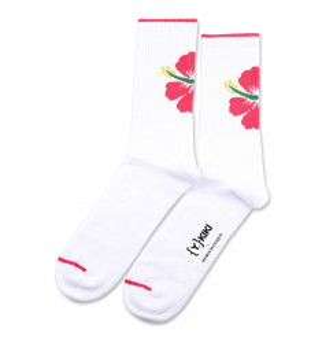 YKIKI x Democratique Socks Athletique Classique Motif Clear White/Purplish Pink/Tennis Green/Dominant Yellow 6-pack