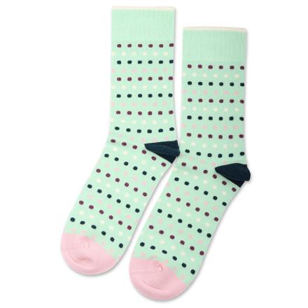 Democratique Socks Originals Polkadot Pale Green / Off White / Pale Pink / Dark Emerald / Heavy Plum