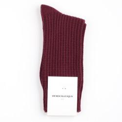 Democratique Socks Relax Waffle Knit Supermelange 6-pack Heavy Plum