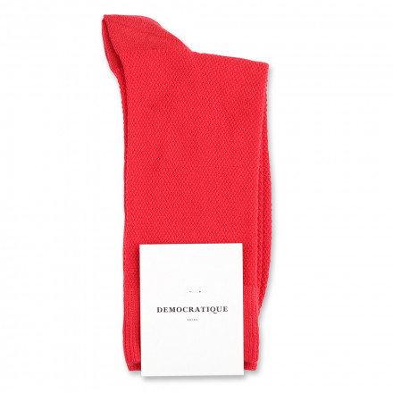 Democratique Socks Originals Champagne Pique 6-pack Pearl Red