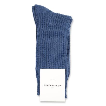 Democratique Socks Relax Waffle Knit Supermelange 6-pack Dark Ocean Blue