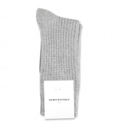Democratique Socks Relax Waffle Knit Supermelange 6-pack Light Grey Melange